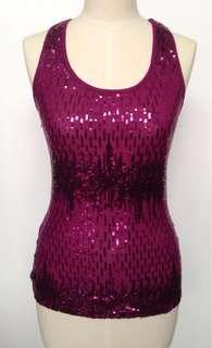 🚚 代友售 全新 美國品牌 Express 紫色針織上衣