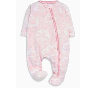 Pink cloud sleepsuit