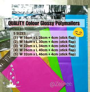 Multi-Colours Polymailer Bags