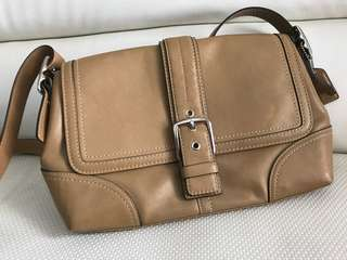 ORI NO KW - Coach Sling Bag Leather