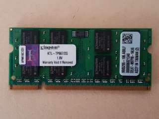 DDR2 667 Kingston Laptop Ram 2GB