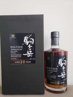 絕版!駒岳 10年 Pure Malt 40% 700ml 矮樽版 日本 威士忌 日威 Shinshu Komagatake Whisky