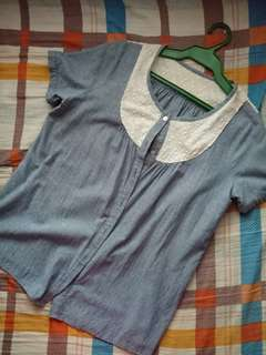 Semi-Denim Blouse