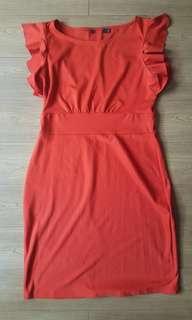 PLUS SIZE orange dress