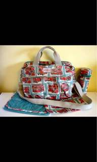 Cath Kidston London Buses Mommy Nappy Bag
