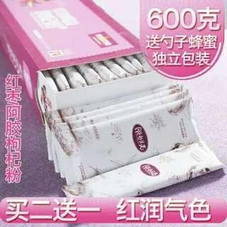 盒裝柯膠紅朿粉