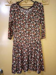 Floral with sleeves Dress