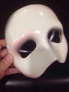 Vintage 1988 Phantom of the Opera ceramic mask sculpture display Musical Play Production Props Performing Arts
