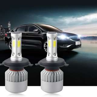 Car COB LED Headlight Bulbs Light H4 and H11 12V 72W 8000LM 6500K