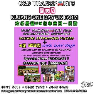 Malaysia JB Kluang UK Farm + Kluang Attraction Places One Day Trip Chartered Service Transports 🚘