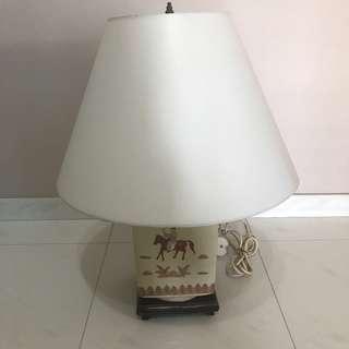 Antique porcelain vase lamp shade