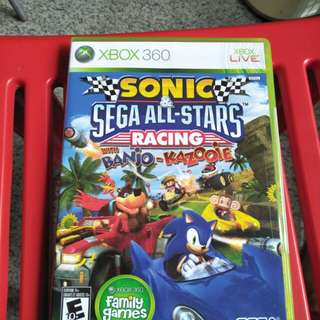 Xbox 360 sonic sega all stars racing