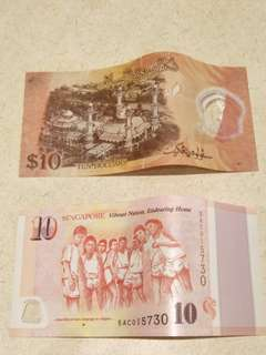 SG50 $10 and Brunei $10