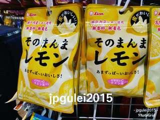 日本獅王 蜂蜜 檸檬皮 柚子皮 零食 好食