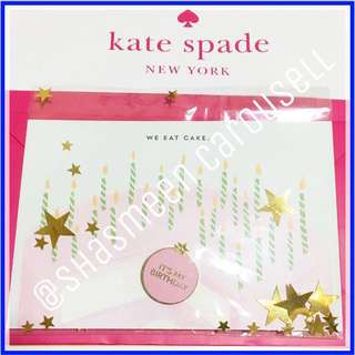 Kate spade ♠️ happy birthday badge