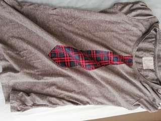 Fake tie t shirt