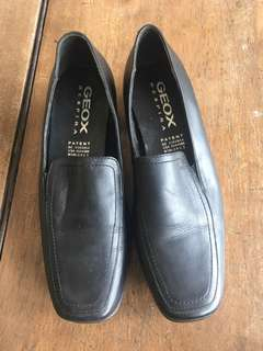 Geox Leather Black Shoes for Women