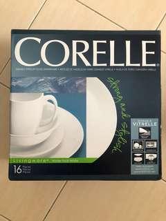 Corelle Livingware Winter Frost White 16pc Dinner Set