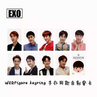 EXO FIGURE KEY RINGS UNOFFICIAL PHOTOCARDS