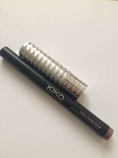 Clinique Lipstick in Blushing Nude/Kiko Eyeshadow Stick in Taupe Bundle