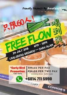 2 pax FREE Flow Beers