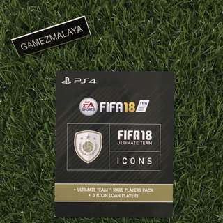 [CODE] PS4 FIFA18 FUT ICON - (GAMEZMALAYA)