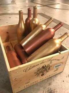 Wine bottles (original / rose gold / gold)