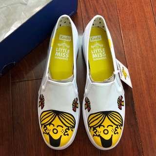 🚚 Keds x Little Miss 妙小姐聯名 白色厚底娃娃鞋