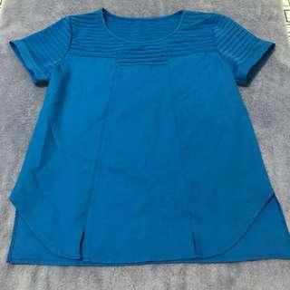 Blue Short Sleeve Top