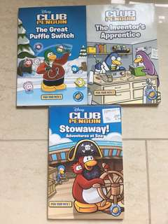 Disney Club Penguin Series Of 3 Books
