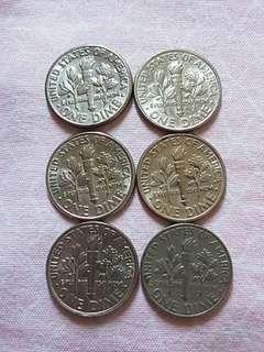 美金One Dime硬幣每個