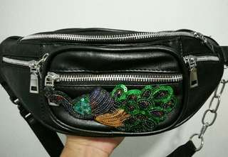 Rare Studded Faux Leather Beltbag