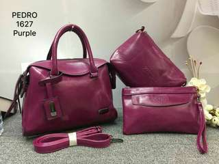 Pedro Tote Bags 3 in 1 Purple Color