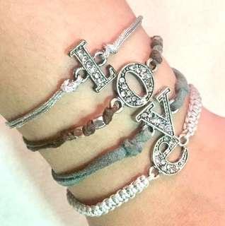 L.O.V.E. Charm Layered Bracelet