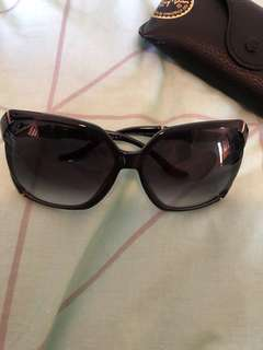 Gucci sunglasses bamboo style blue frame black lenses