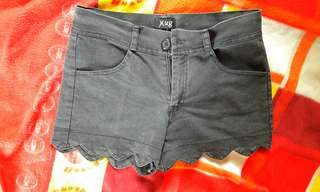 Fancy cut black shorts