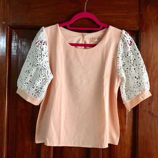 Peach Korean Top