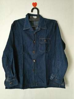 Kemeja jeans Navy