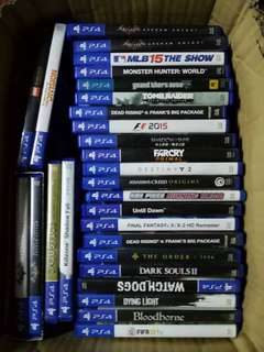 Ps4 Games Used Updated!! Please read description