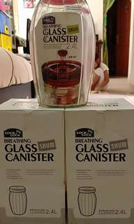 Toples Lock&Lock Glass Canister 2,4L