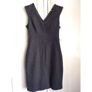 BANANA REPUBLIC Grey Pencil Dress