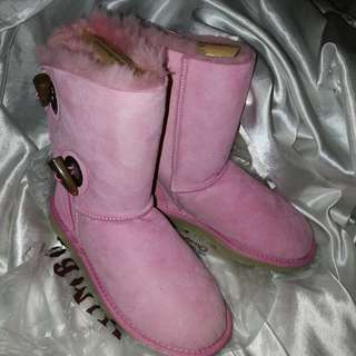 Ugg baby pink boots new