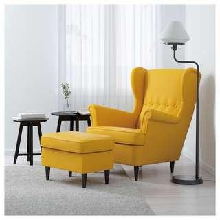 IKEA Strandmon Yellow Chair