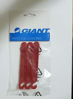Giant Bicycle Tyre Lever (3 pcs) Red