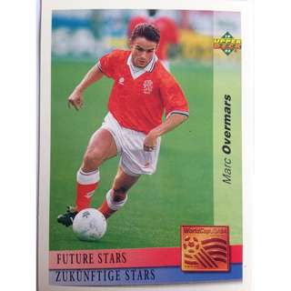 Marc Overmars (Netherlands) - Soccer Football Card #134 (Future Stars) - 1993 Upper Deck World Cup USA '94 Preview Contenders