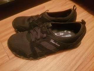 Original Skechers Memory Foam Plain Black 7