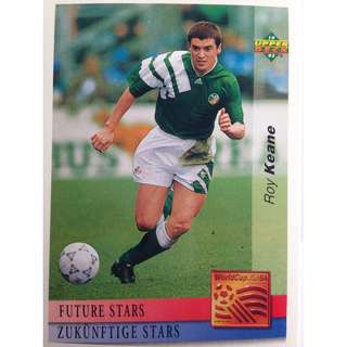 Roy Keane (Ireland) - Soccer Football Card #133 (Future Stars) - 1993 Upper Deck World Cup USA '94 Preview Contenders