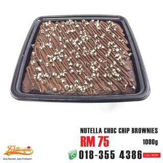 Nutella Choc Chip Brownies 1000g