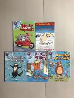 Used 4pcs children english story book reading level 1
