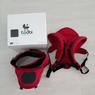 Todbi 3D Style Hipseat Carrier, Red